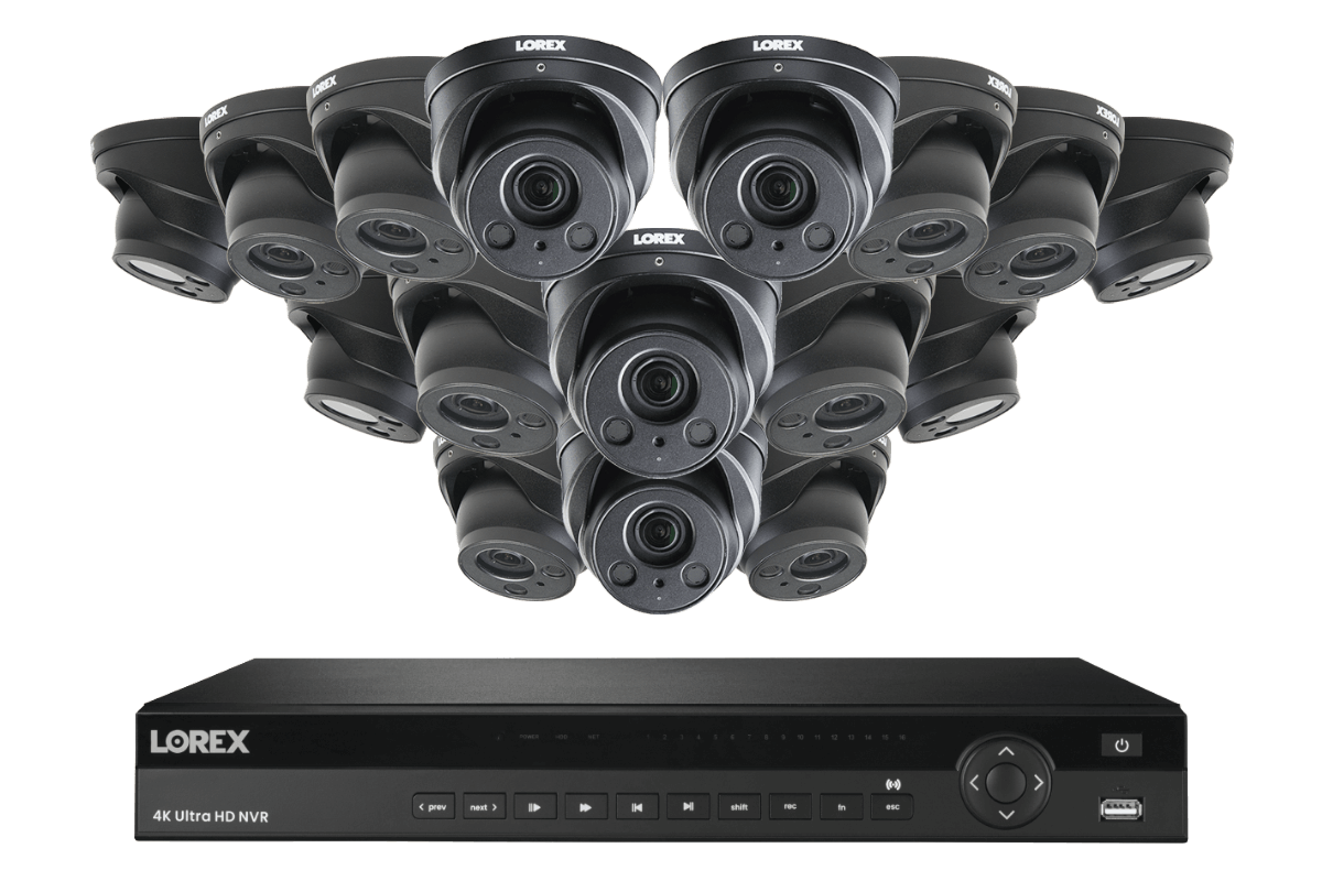 4KHDIP1616NW-1 16-Channel 4K NVR System with Sixteen 4K (8MP) Nocturnal IP Varifocal Cameras